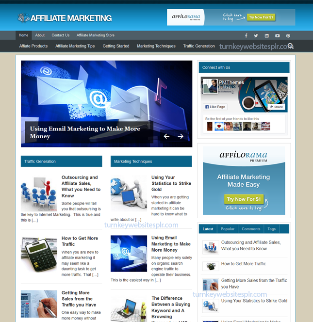 Affiliate Marketing Turnkey Website