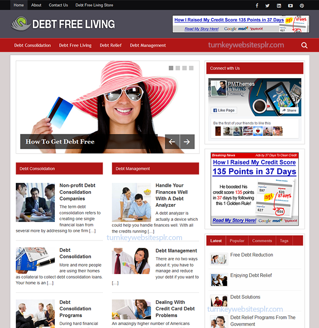 Debt Free Living Turnkey Site