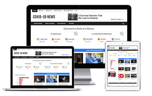 Covid-19 News Site - Personal Use